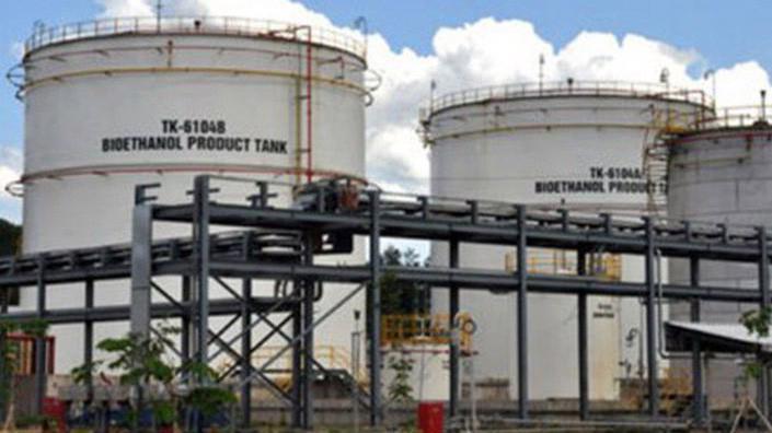 Nhà máy sản xuất nhiên liệu sinh học Dung Quất đang dừng sản xuất do giá thành cao, thua lỗ lớn.