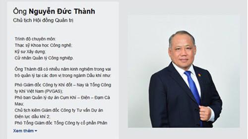 Ông Nguyễn Đức Thành – Chủ tịch Hội đồng Quản trị Công ty Đạm Cà Mau.