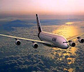 Máy bay A380 của Airbus.