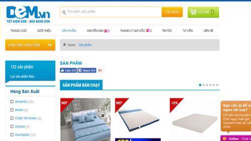 Trang web của Công ty cổ phần Vua Nệm.