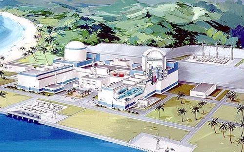 """<span style=""""font-size: 10pt;"""">Mô hình dự án điện hạt nhân Ninh Thuận.</span>"""
