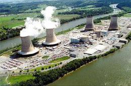 Một nhà máy điện hạt nhân - Ảnh minh họa.