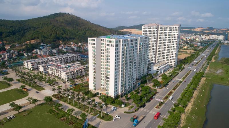 Green Bay Garden có quy hoạch tổng thể hài hòa trên tổng diện tích hơn 12.300m2 với 1.428 căn hộ chung cư.