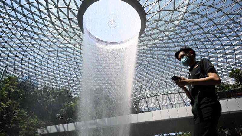 Sân bay Changi, Singapore - Ảnh: AP