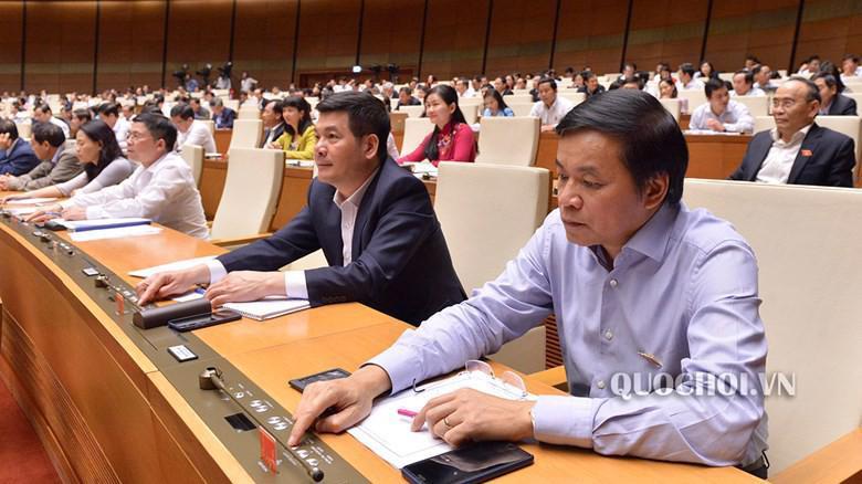Một phiên họp toàn thể của Quốc hội khoá 14.
