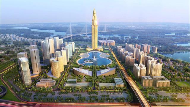 Phối cảnh dự án thành phố thông minh Bắc Hà Nội.