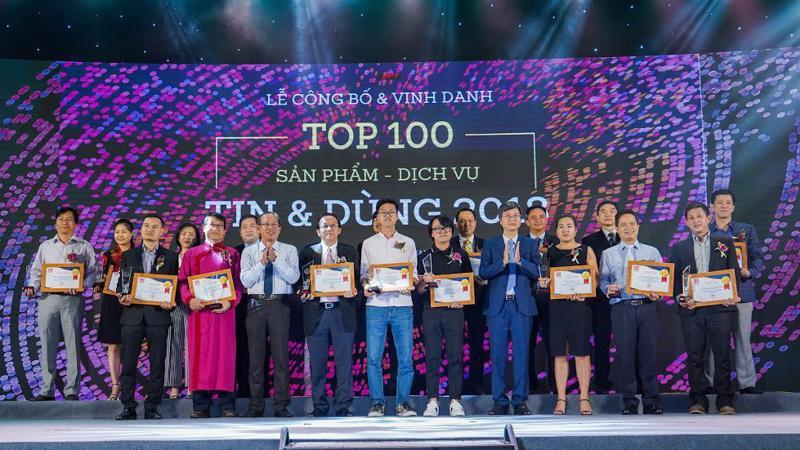 Lễ vinh danh 100 sản phẩm, dịch vụ Tin và Dùng 2018 diễn ra tại Tp.HCM chiều 29/11 - Ảnh: Việt Tuấn.