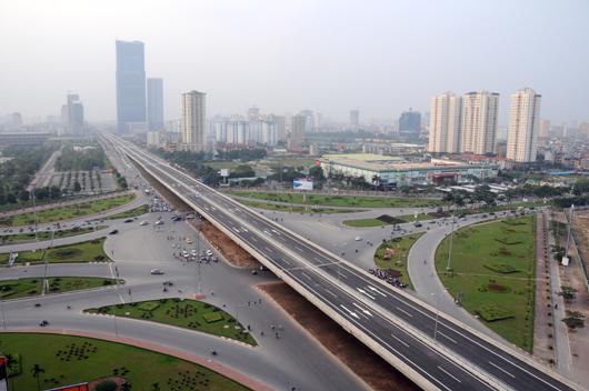 Hà Nội đã hoàn thiện một số tuyến đường trên cao.