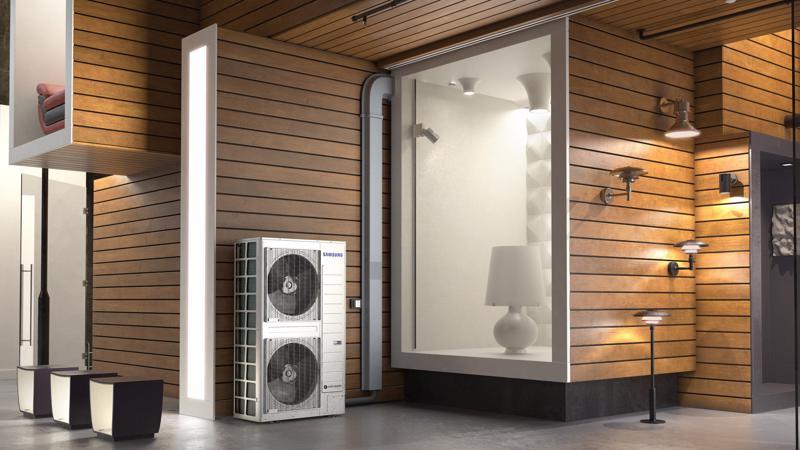 Các máy điều hòa không khí hệ thống mới của Samsung có thiết kế nhỏ gọn giúp tiết kiệm không gian.