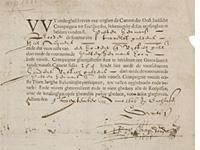 Tờ cổ phiếu đầu tiên trên thế giới do công ty Dutch East India phát hành - Nguồn: Westfries Museum/CNBC.