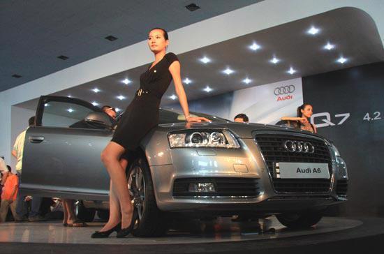 Audi là một trong những thương hiệu ôtô tạo được nhiều ấn tượng nhất tại kỳ triển lãm 2009 - Ảnh: Đức Thọ.