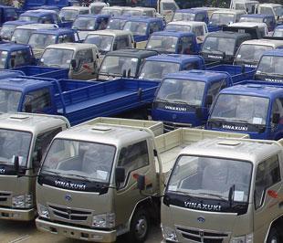 Các loại xe tải do Vinaxuki sản xuất - Ảnh: Đức Thọ.