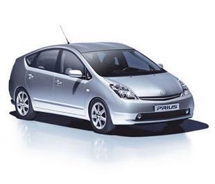Mẫu xe hybrid Prius của hãng Toyota.