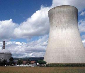 Một nhà máy năng lượng hạt nhân ở Mỹ.