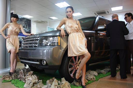 Mẫu xe Range Rover có mặt tại showroom Land Rover Hà Nội - Ảnh: Đức Thọ.