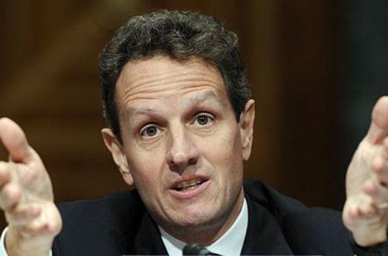 Bộ trưởng Bộ Tài chính Mỹ Timothy Geithner. Ông tuyên bố sẵn sàng đương đầu với công việc quan trọng ở phía trước, những thách thức mà nước Mỹ đang đối mặt.