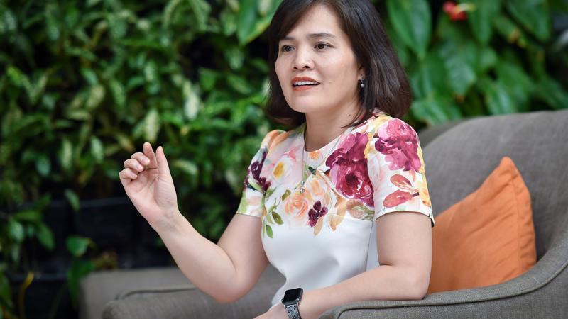 Bà Lê Thị Vân Anh, Phó Tổng Giám đốc Tập đoàn Flamingo. Ảnh: Việt Tuấn.