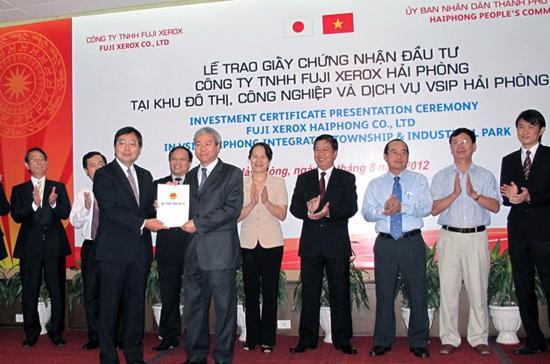 Lễ trao giấy phép dự án Fuji Xerox