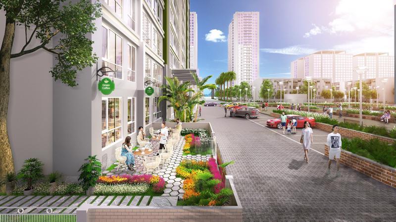 Không chỉ quy hoạch đồng bộ, Green Bay Garden còn có kiến trúc hiện đại, thiết kế cảnh quan hợp lý.