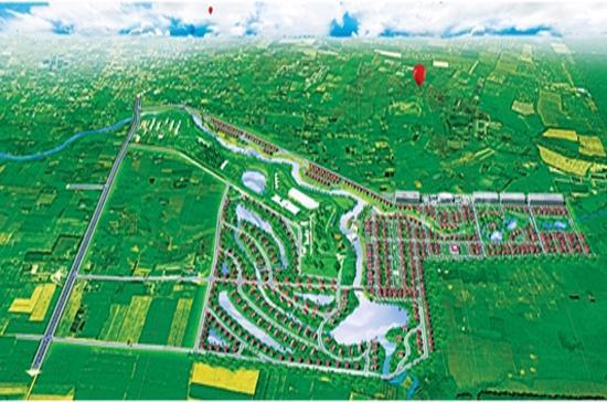 Phối cảnh dự án khu dân cư Giang Điền.