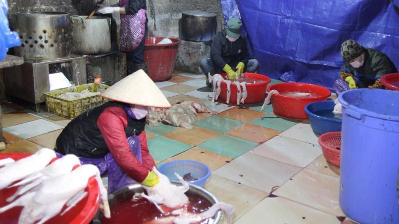 Cơ sở giết mổ ở Lạng Sơn, một địa chỉ giám sát của đoàn giám sát của Quốc hội.
