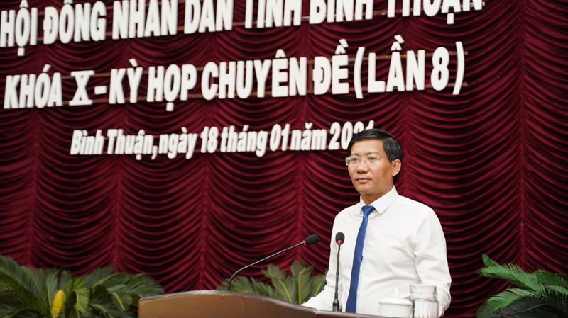 Tân Chủ tịch UBND tỉnh Bình Thuận Lê Tuấn Phong.