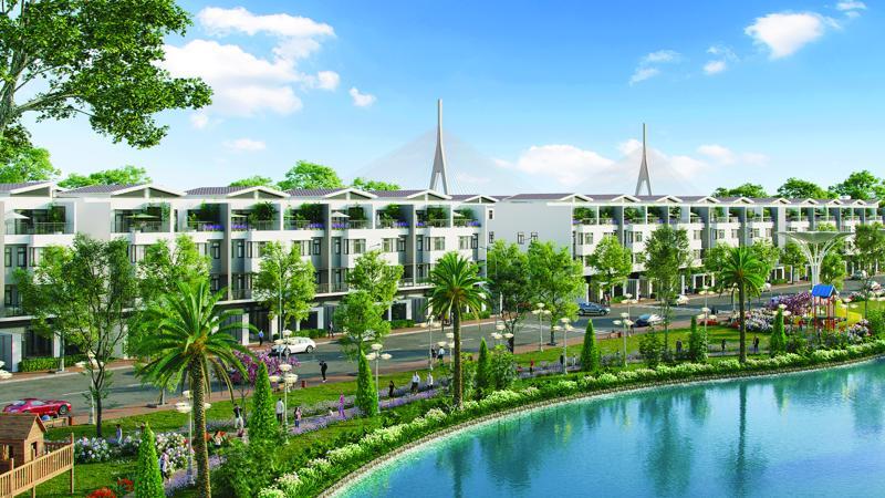 King Bay có diện tích mặt nước và cây xanh được quy hoạch dày đặc để mang lại bầu không khí trong lành cho cư dân.
