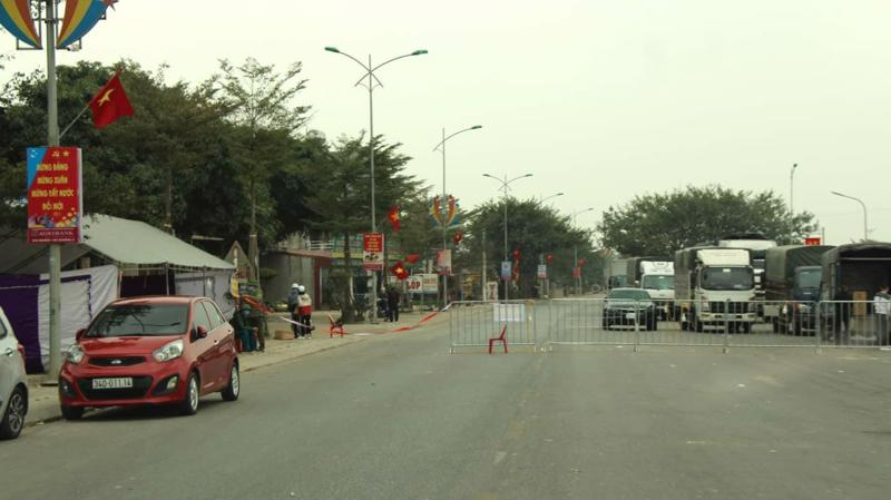 Cụm dân cư thôn Quảng Tân ở Nam Sách (Hải Dương) thực hiện cách ly. Ảnh - Bộ Y tế.