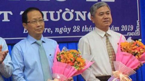 Ông Nguyễn Trúc Sơn (trái) và ông Nguyễn Văn Đức vừa được phê chuẩn Phó chủ tịch tỉnh Bến Tre.
