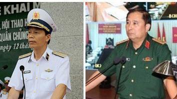 Phó Tổng Tham mưu trưởng Quân đội nhân dân Việt Nam Nguyễn Trọng Bình và Phùng Sĩ Tấn