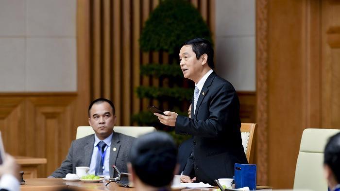 Ông Lê Viết Hải phát biểu trong Gala kỷ niệm 15 năm ngày Doanh nhân Việt Nam tại Văn phòng Chính phủ.