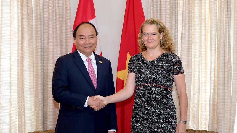 Thủ tướng Nguyễn Xuân Phúc hội kiến với Toàn quyền Canada Julie Payette, ngày 8/6.