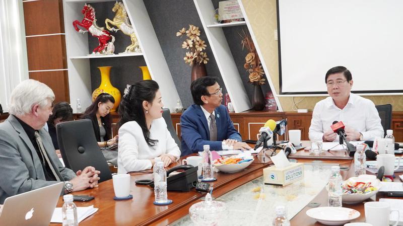 Chủ tịch UBND Tp.HCM làm việc với Ban lãnh đạo Công ty VWS sáng ngày 14/1/2020.