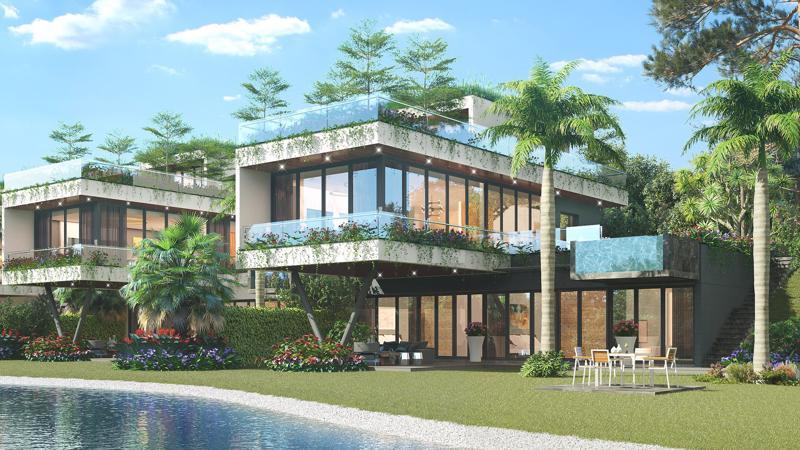 Sự khác biệt trong thiết kế đan cài bên cảm hứng thiên nhiên tươi mát và khoáng đạt sẽ tạo nên đẳng cấp vượt trội của từng căn biệt thự tại The Legend Villas.