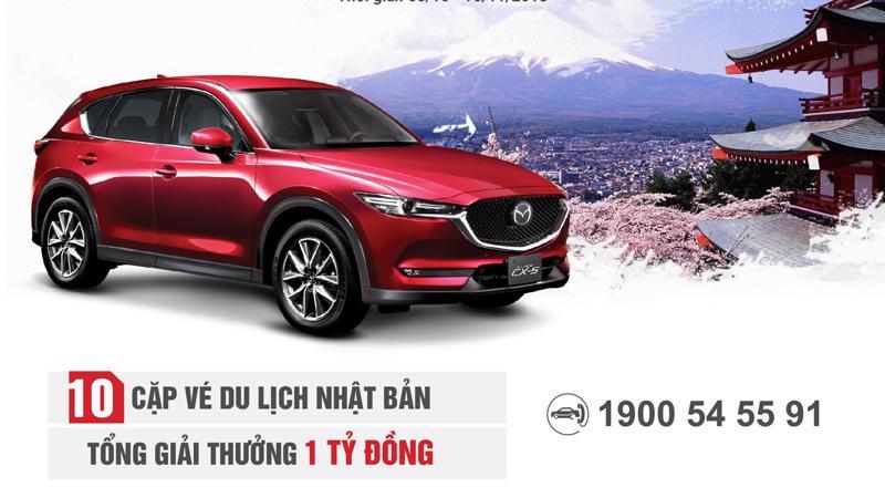 Mazda Việt Nam tổ chức chương trình rút thăm trúng thưởng vé du lịch Nhật Bản như một lời tri ân dành tặng cho khách hàng đã, đang và sẽ tiếp tục đồng hành cùng thương hiệu Mazda.