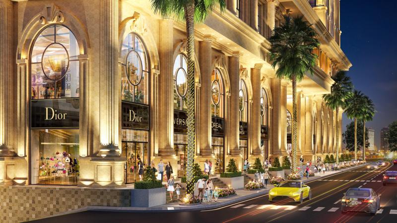 Lấy cảm hứng từ thành Rome hàng ngàn năm trước, thành Rome Sài Gòn nay chinh phục giới mộ điệu bởi sự kết hợp hoàn hảo các tinh hoa kiến trúc cổ điển trong một đô thị hiện đại.