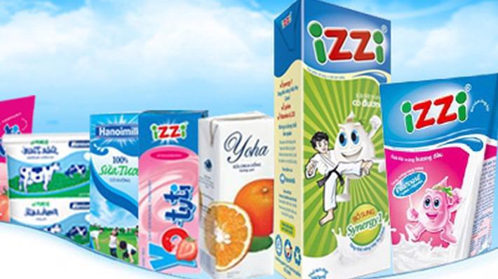 Sản phẩm của Công ty sữa Hà Nội.