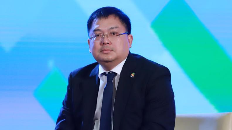 Chủ tịch Software Hoàng Nam Tiến tại Diễn đàn CEO năm 2019 - Ảnh: Quang Phúc.