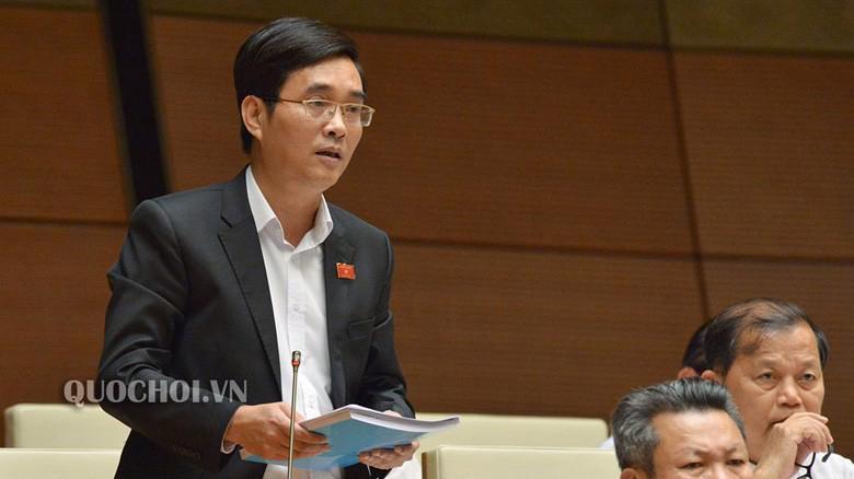 Đại biểu Hoàng Quang Hàm, uỷ viên Thường trực Uỷ ban Tài chính - Ngân sách của Quốc hội phát biểu tại hội trường.
