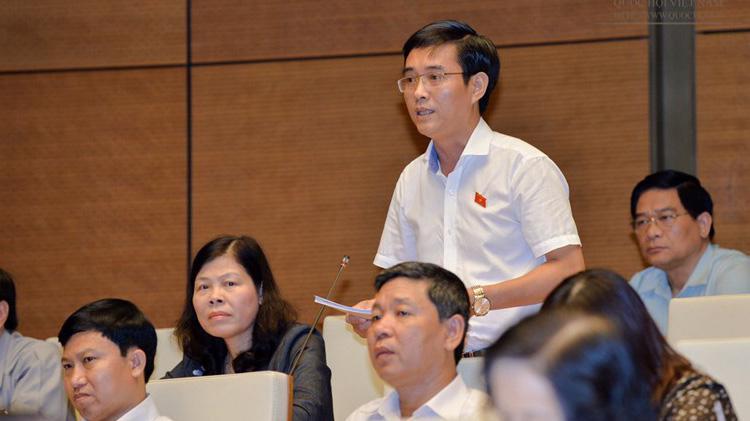 Đại biểu Hoàng Quang Hàm phát biểu tại nghị trường.