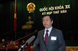 Bộ trưởng Bộ Công thương Vũ Huy Hoàng: Cần nhìn nhận công bằng về thủy điện - Ảnh: TTXVN.