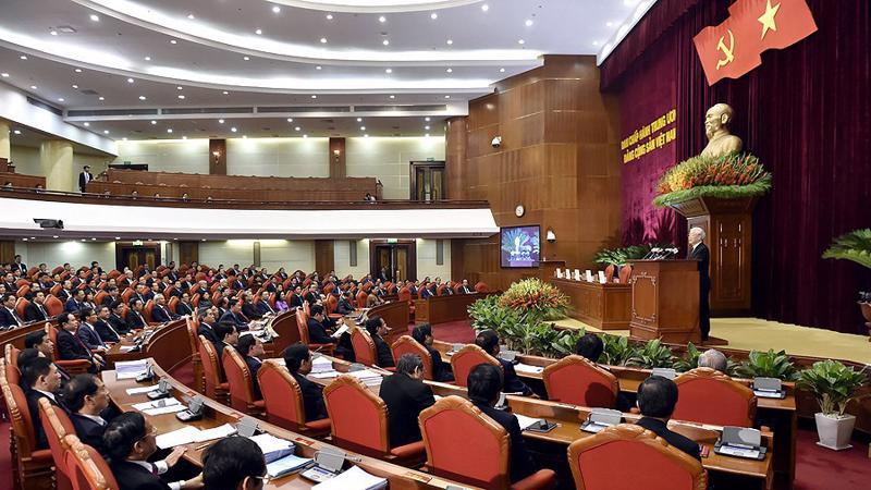 Quang cảnh phiên bế mạc Hội nghị Trung ương 7 - Ảnh: VGP.