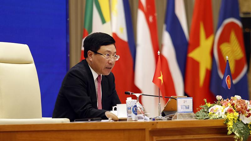 Phó Thủ tướng Phạm Bình Minh chủ trì Hội nghị lần thứ 22 Hội đồng Cộng đồng Chính trị - An ninh ASEAN - Ảnh: VGP.