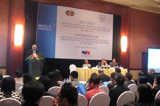 Hội thảo Hiệp định thương mại tự do giữa Việt Nam-EU: Cơ hội và thách thức đối với doanh nghiệp FDI tại Việt Nam.