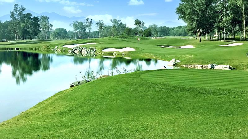 Hố số 6, sân gôn Kings Course do ông Jack Nicklaus 2 thiết kế.