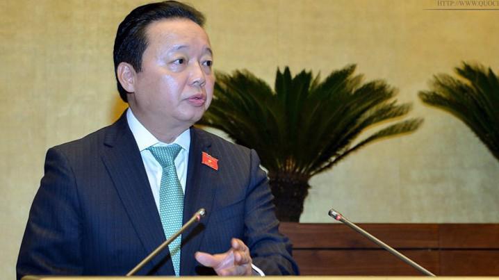 Bộ trưởng Bộ Tài nguyên và Môi trường Trần Hồng Hà bắt đầu trả lời chất vấn từ 15h ngày 4/6.