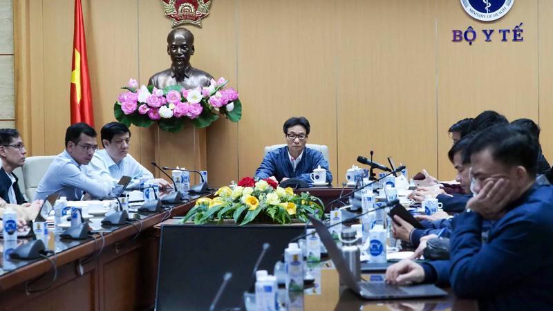Cuộc họp khẩn trực tuyến giữa Thường trực Ban chỉ đạo quốc gia phòng, chống dịch Covid-19 với Hải Dương và Quảng Ninh.
