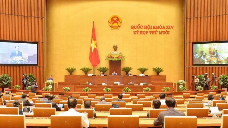 Quốc hội họp sáng nay. Ảnh: Quochoi.vn