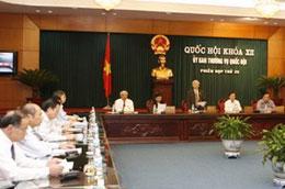 Phiên họp thứ 25 của Ủy ban Thường vụ Quốc hội - Ảnh: TTXVN.
