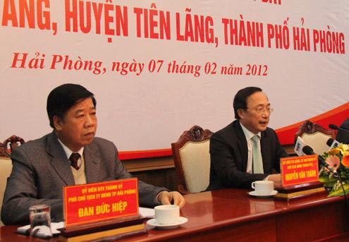 Thành ủy Hải Phòng tổ chức họp báo vụ Tiên Lãng với nhiều thông tin đáng chú ý.